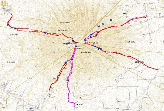 1月から5月まで、主要4方向すべてから、合計6回羊蹄山山頂に登頂。