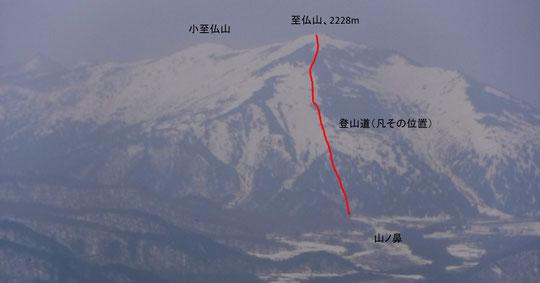 2018/5/1 11:50 燧ケ岳より、至仏山