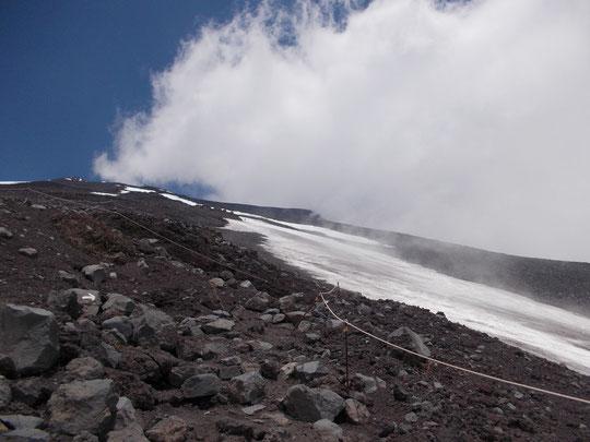 滑降終了地点 2700m