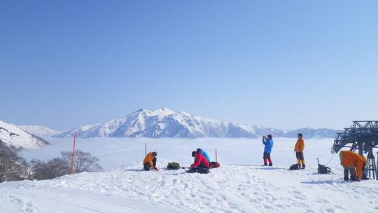 天神平より白毛門方面、スキーで渡れそうな・・・