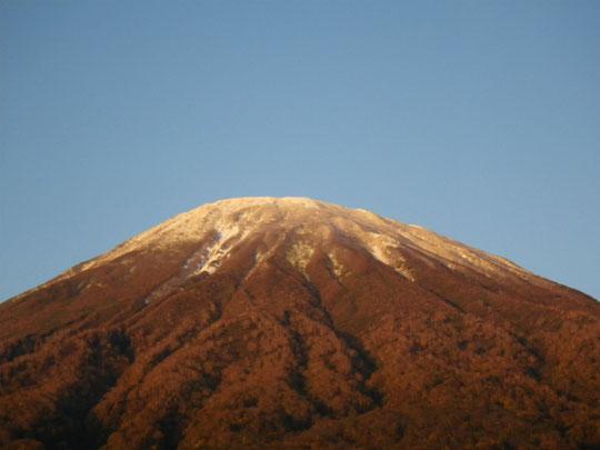冠雪の羊蹄山 京極より