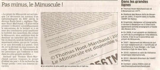 Le Minuscule de Thomas Huot-Marchand ICL correcteur