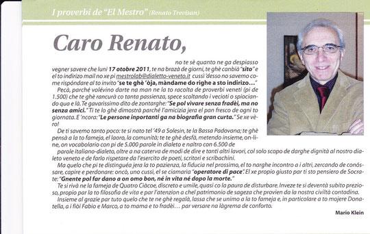 Ciao, Renato! se vedaremo un dí! Grassie de tuto!