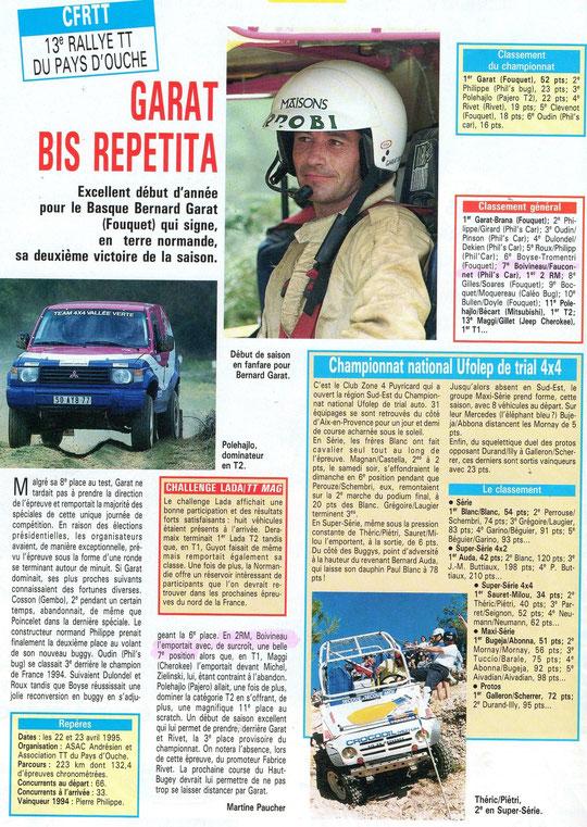 1995 - Tout Terrain Magazine - 13e Rallye du Pays d'Ouche