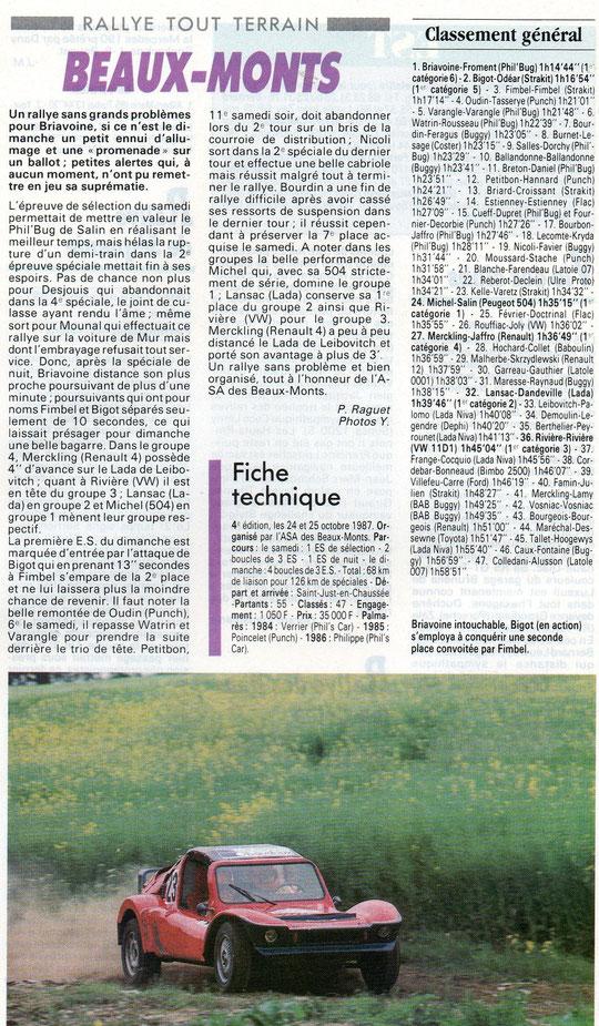 1987 - Les Beaux Monts