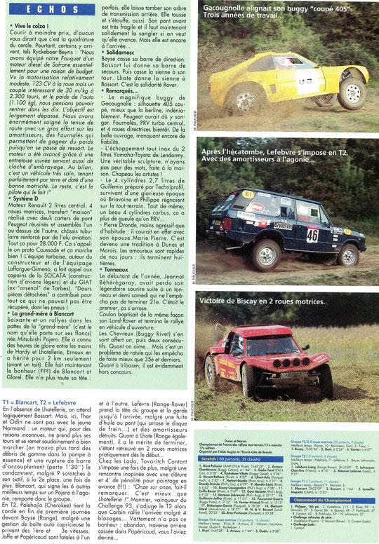 1994 - Rallyes Magazine - Rallye TT Dunes & Marais