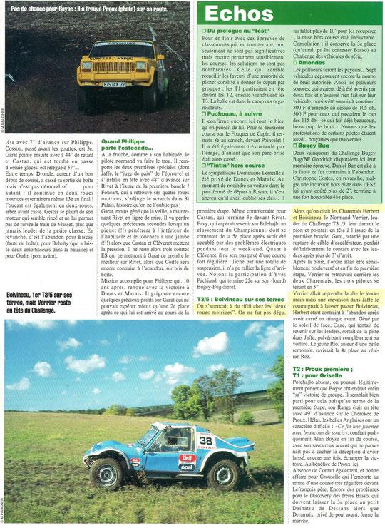 1996 - Rallyes Magazine - Dunes & Marais