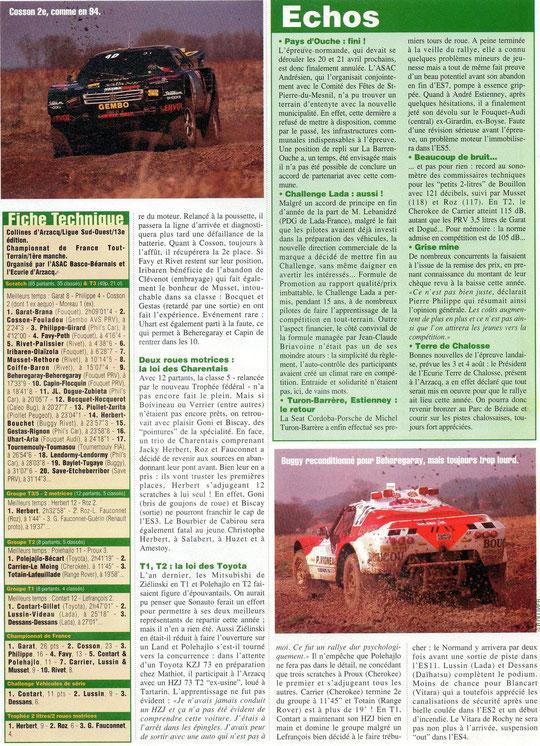 1995 - Rallyes Magazine - Arzacq