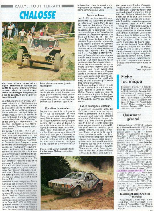 1987 - Echappement - Rallye Terre de Chalosse