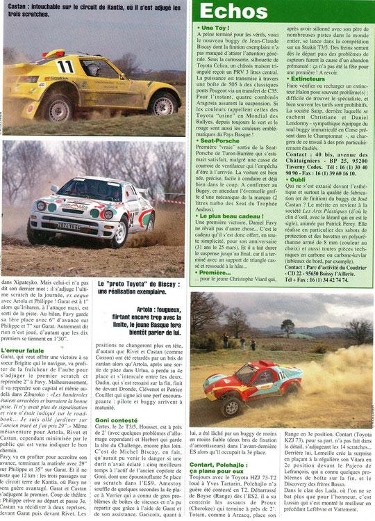1996 - Rallyes Magazine - Ronde du Labourd