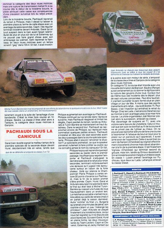 1993 - Compte Tours - Rallye Terre de Chalosse
