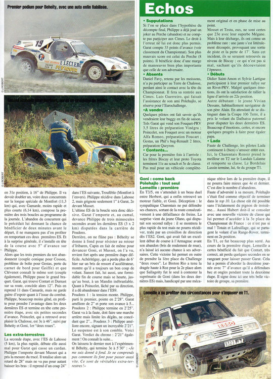 1996 - Rallyes Magazine - Terre de Chalosse