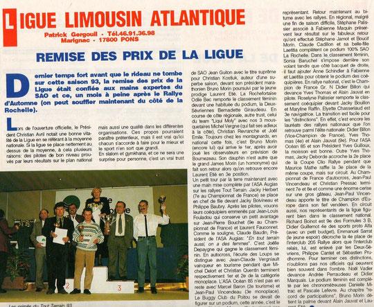 1993 - Remise des prix de la Ligue