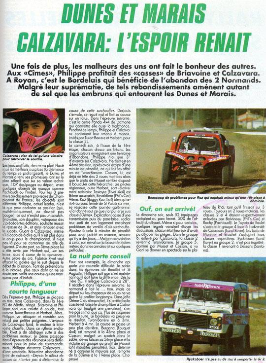 1990 - Compte Tours - Rallye Dunes & Marais