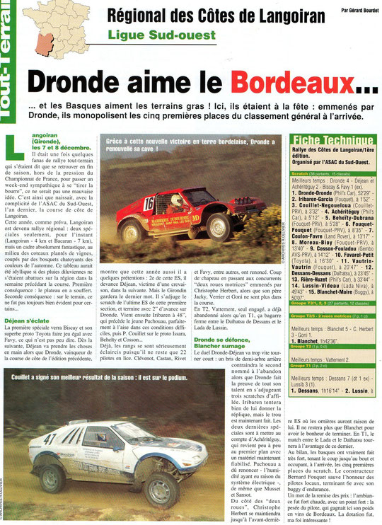 1996 - Rallyes Magazine - Langoiran