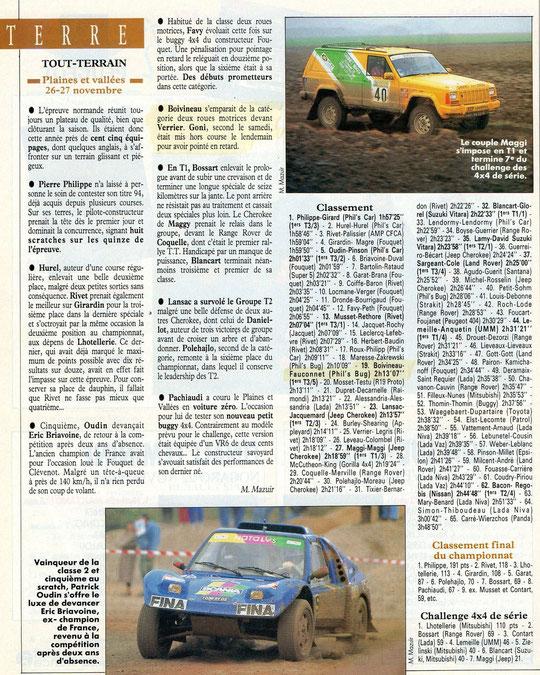 1994 - Echappement - Rallye Plaines & Vallées