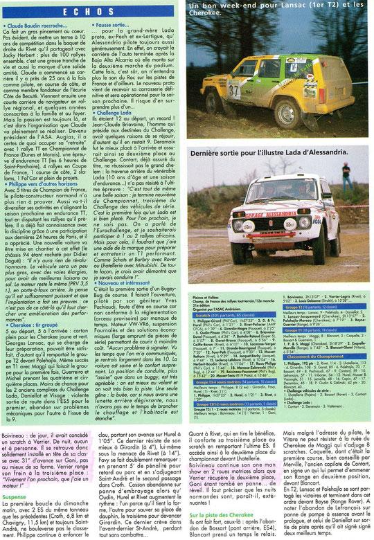 1994 - Compte Tours - Rallye Plaines & vallées