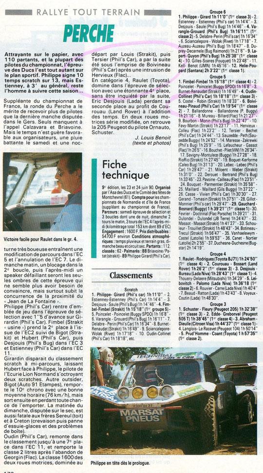 juin 1990 - Rallye TT du Perche