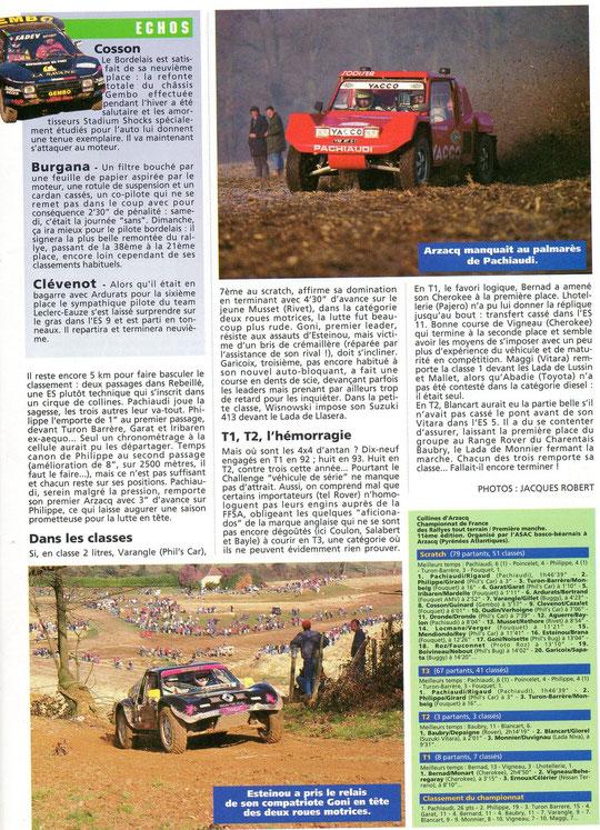 1993 - Rallyes Magazine - Collines d'Arzacq