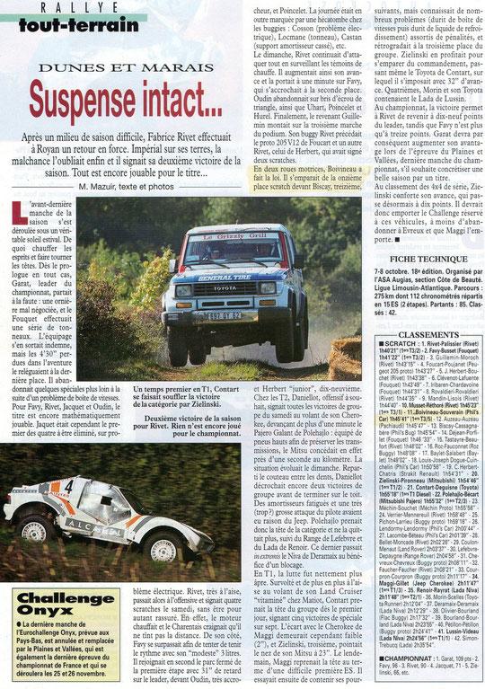 1995 - Rallye Tout Terrain - Dunes & Marais