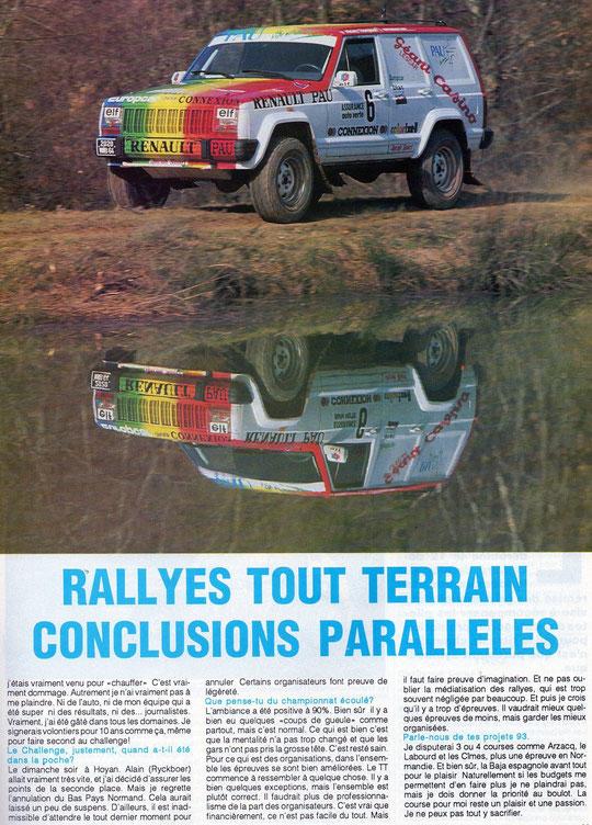 1993 - Compte Tours - Patrick CALZAVARA