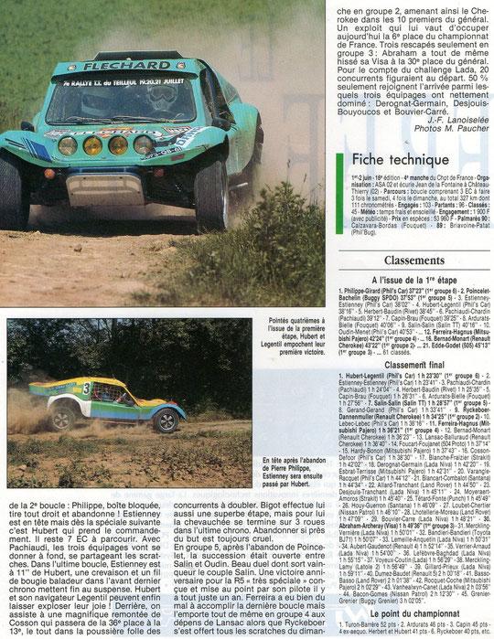 1991 - Echappement - Rallye Jean de la Fontaine