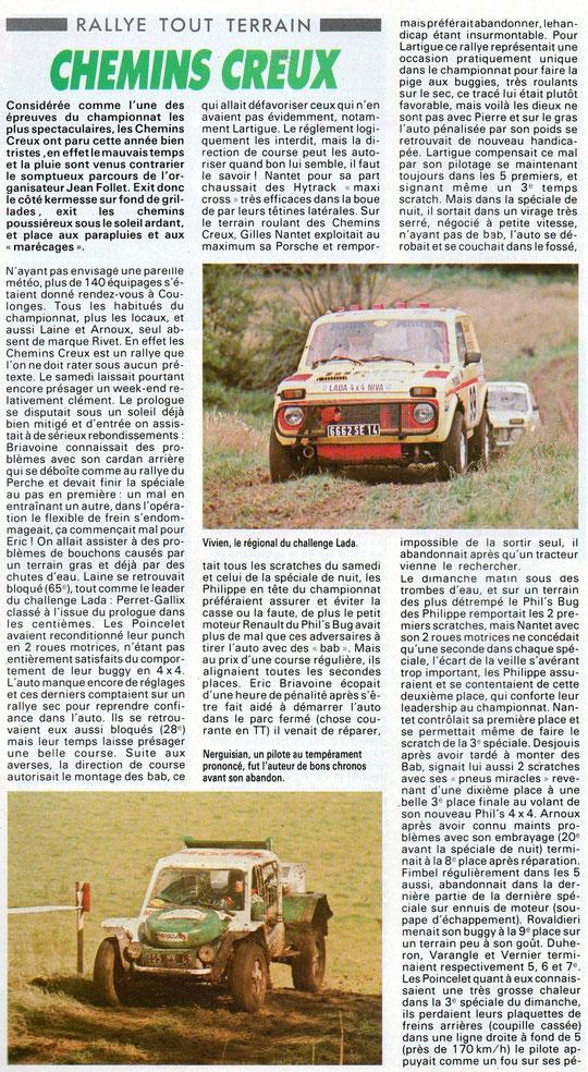 1987 - Echappement - Rallye Chemins Creux