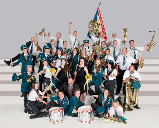 Musikverein Uttwil am Kant. Musikfest in Müllheim Juni 2014