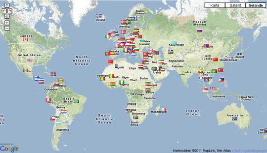 Länderübersicht: Herkunft Besucher