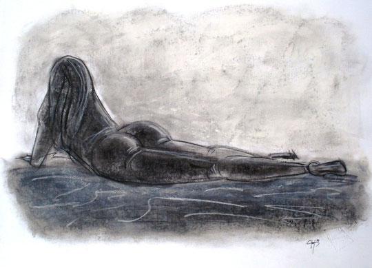 Valentina - grafite su cartoncino - 30 X 20