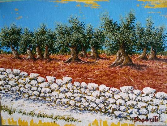Saporiti Marco - Terra rossa - olio tela - 30 X 40