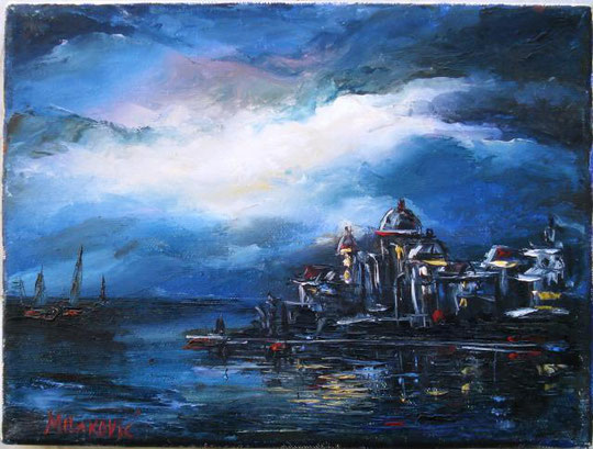 BosiljKa Milakovic - Venezia - olio su tela - 24 X 18 - 2009