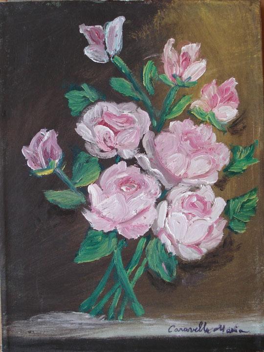 Rose - olio su tela - 30 X 40