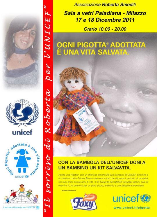 Il sorriso di roberta per l'UNICEF - Progetto Pigotta