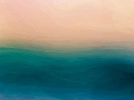 Farina Maurizio - Oceano - grafica digitale su lamina di metallo - 100 X 70