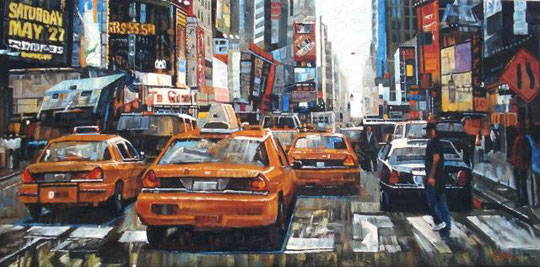 Neus Martín Royo – New york - olio tela - 60 X 30