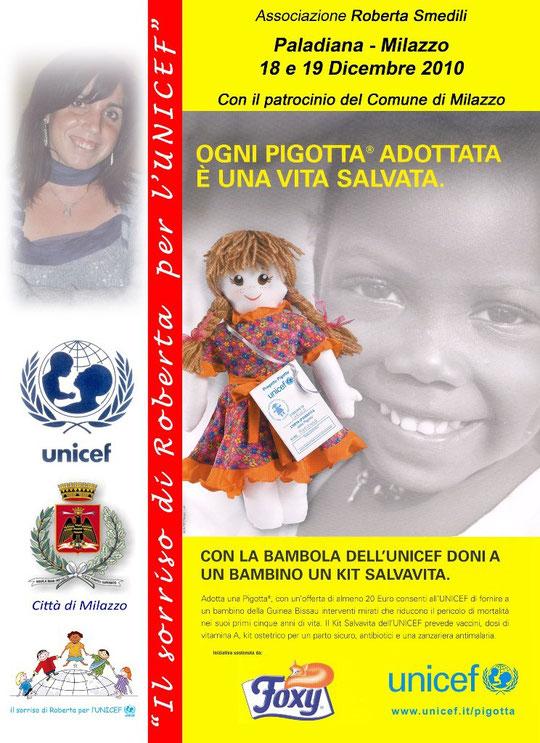 """Il sorriso di Roberta per l'UNICEF """"Progetto Pigotta"""""""