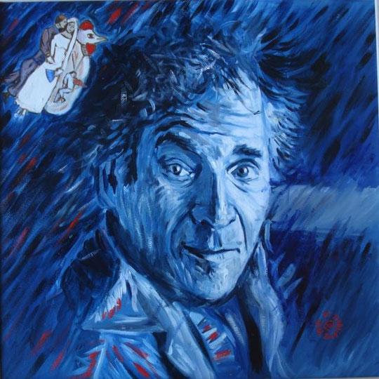 De Haan Paul - omaggio a marc Chagall - olio tela - 50 X 50