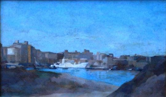 Abbriano Domenico - Il porto di Milazzo - olio tela - 60 X 40