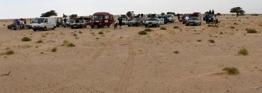 Sammeln zum Übernachten in der Wüste