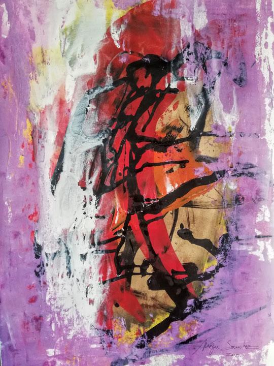 LGM38P  Peinture et encre sur papier Canson Monival format 60/80.