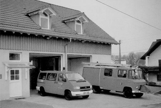 Neues Feuerwehrhaus und Einsatzfahrzeuge Schluttenbach