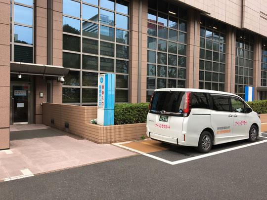 介護タクシーで東京都中央区の国立がん研究センター病院へ