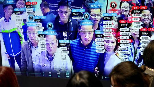 Una prueba del sistema de reconocimiento facial en China. (Reuters)