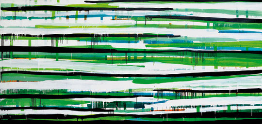 »going_on27« 2008 · Acryl · 195 x 415 x 5cm