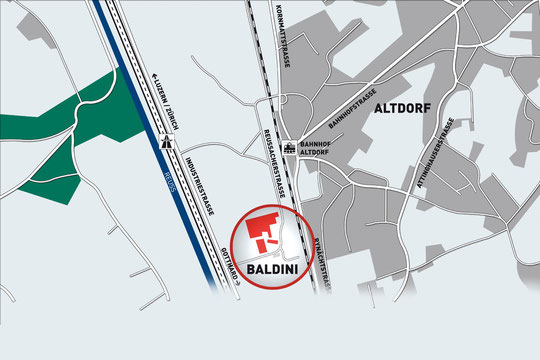 Situationsplan Werkhof Baldini