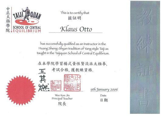 TaijiQuan-Instruktoren-Zertifikat