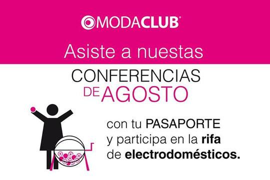 rifas moda club , pasaporte modaclub, conferencias moda club ,