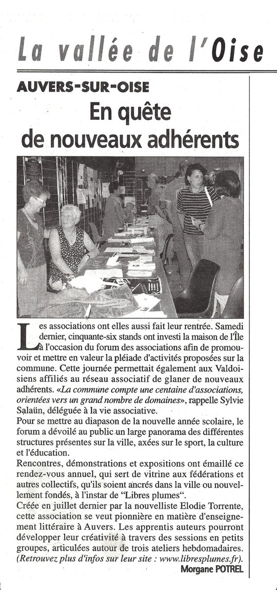 La gazette du Val d'Oise, mercredi 11/09/2013