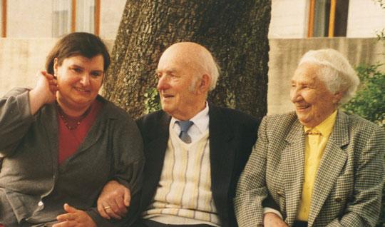 Die Familie JUNGE: Schwiegertochter Angelika, Werner Junge mit Ehefrau Franziska